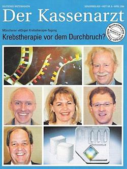 Titelseite des Magazins Der Kassenarzt mit dem Titelthema Krebstherapie vor dem Durchbruch?