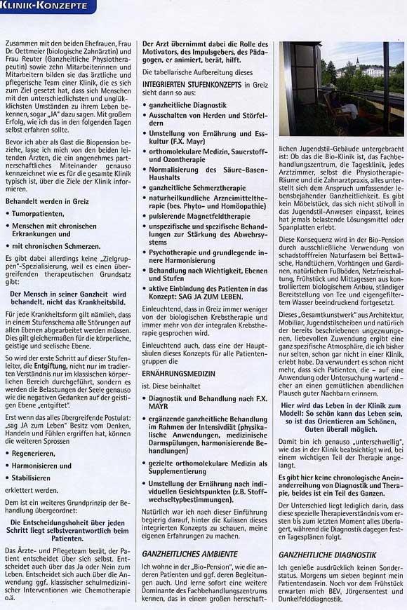Artikel: Klinik-Konzept der Klinik Pro Leben