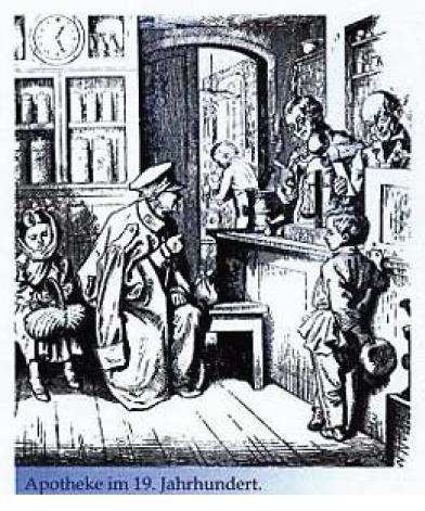 Apotheke im 19. Jahrhundert