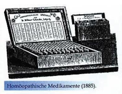 Homöopathische Medikamente 1885