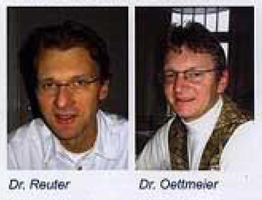 Dr. Reuter (links) und Dr. Oettmeier (rechts)