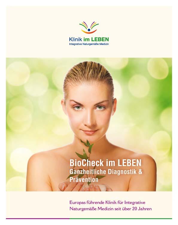 Titelseite Broschüre Biocheck Klinik im LEBEN Ganzheitliche Diagnostik und Prävention