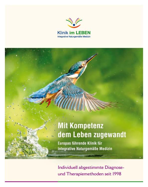 Titelseite Patientenbroschüre Klinik im LEBEN – Europas führende Klinik für Naturgemäße, Biologische Medizin