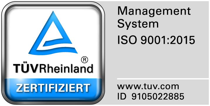 TÜV Rheinland certificated Management System according ISO 9001:2008